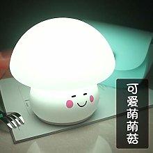 Ins Silicone Colorful Mushroom Night Light USB