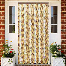 Insect Curtain Beige and Brown 100x220 cm Chenille