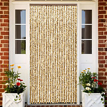 Insect Curtain Beige and Brown 90x220 cm Chenille
