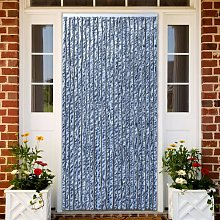 Insect Curtain Blue, White and Silver 90x220 cm