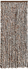 Insect Curtain Brown and White 56x185 cm Chenille