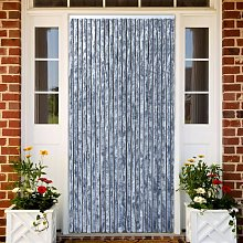 Insect Curtain Silver 100x220 cm Chenille
