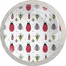 Insects Pattern Bee Ladybug Fly Drawer Pulls and