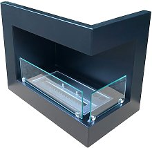 Insert for bio fireplace - right sided