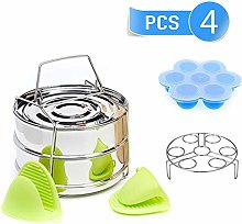 Insert Pans Stainless Steel Stackable Steamer for