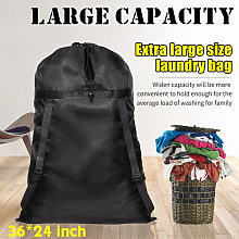 Insma - 24 'X36' Polyester Black Laundry