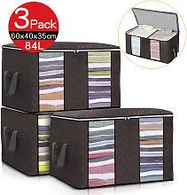 Insma - 3PCS Clothes Storage Bags Ziped Organizer
