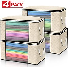Insma - 4PCS Clothes Storage Bags Ziped Underbed