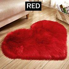 Insma - Soft Carpet Area Rug Floor Heart Shape Mat