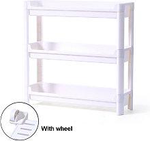 Insma - Wheeled Trolley Shelves Kitchen Storage