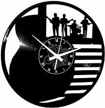Instant Karma Clocks Vinyl Wall Clock Guitar Drums