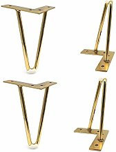 INSTO 4Pcs Metal Furniture Legs, Bedside Tables