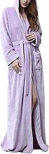 INSTO Womens Bathrobe Warm Coral Fleece Robe