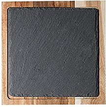 INSTO Wood Platter Serving Food Board Burger Board