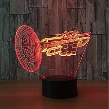 Instrument Trumpet 3D LED Night Light 7 Color
