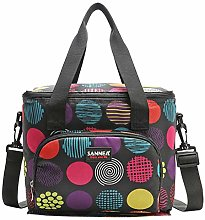 Insulated Double-Layer Lunch Bag with Shoulder