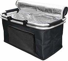 Insulated Folding Shopping Basket, Cooler Bag for