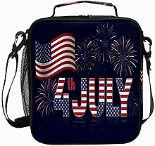 Insulated Lunch Bag 4th July Fireworks Dark Blue