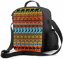 Insulated Lunch Bag African Illustrations Clip Art