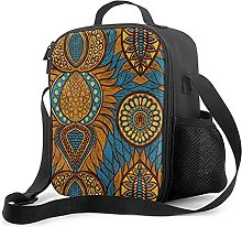 Insulated Lunch Bag African Print Lunch Box with