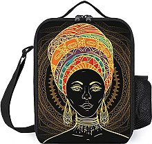 Insulated Lunch Bag African Woman Lunch Box