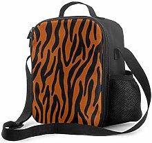 Insulated Lunch Bag Animal Print.Orange Cooler Bag