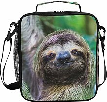 Insulated Lunch Bag Animal Sloth Funny Lazy Lunch