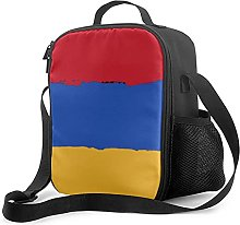 Insulated Lunch Bag Armenia Flag Lunch Box with