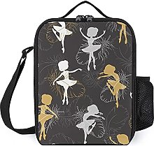 Insulated Lunch Bag Ballet Girl Lunch Box Portable