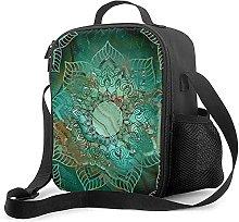 Insulated Lunch Bag Beautiful Mandala Teal