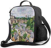 Insulated Lunch Bag Beautiful Town Beautiful