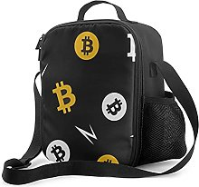 Insulated Lunch Bag Bitcoin Pattern Lunch Box with