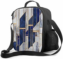 Insulated Lunch Bag Blue Winter Sky Cooler Bag