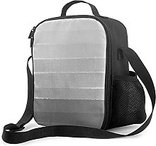 Insulated Lunch Bag Brushstroke Ombre Grey
