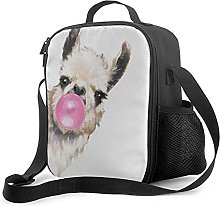 Insulated Lunch Bag Bubble Gum Sneaky Llama Poster