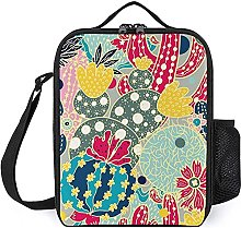 Insulated Lunch Bag Cartoon Cactus Lunch Box