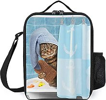 Insulated Lunch Bag Cat Lunch Box Portable Tote