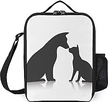 Insulated Lunch Bag Cats Dogs Lunch Box Portable