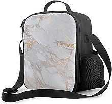 Insulated Lunch Bag Chic Elegant Gold Marble