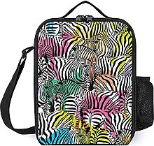 Insulated Lunch Bag Color Horses Lunch Box