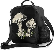 Insulated Lunch Bag Colored Mushrooms Lunch Box
