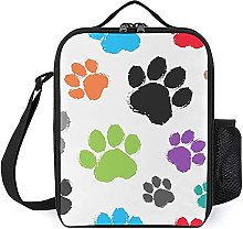 Insulated Lunch Bag Colorful Paw Lunch Box