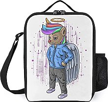 Insulated Lunch Bag Cool Angel Unicorn Lunch Box