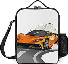 Insulated Lunch Bag Cool Yellow Car Lunch Box