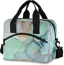 Insulated Lunch Bag Cooler Bag Abstract Marble