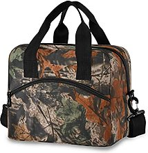 Insulated Lunch Bag Cooler Bag Camouflage Leaves