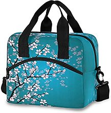 Insulated Lunch Bag Cooler Bag Cherry Blossom Pink