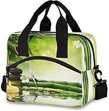 Insulated Lunch Bag Cooler Bag Flower Japanese Zen