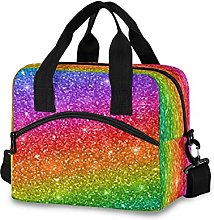 Insulated Lunch Bag Cooler Bag Glitter Abstract