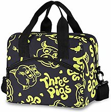 Insulated Lunch Bag Cooler Bag Gold Three Pigs